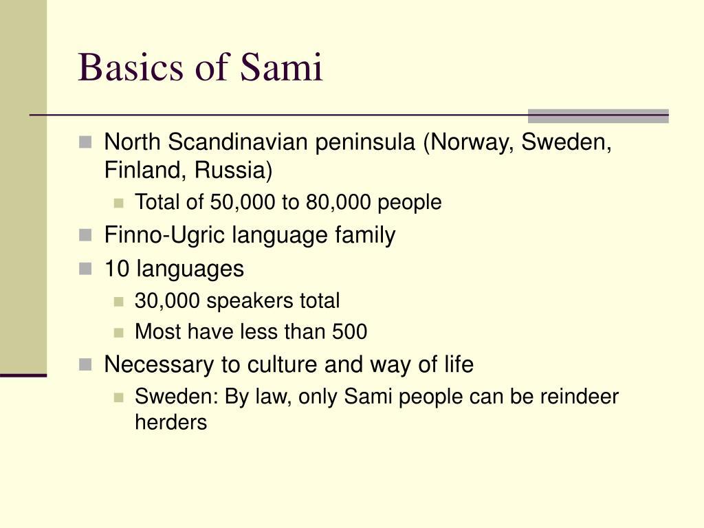 Basics of Sami