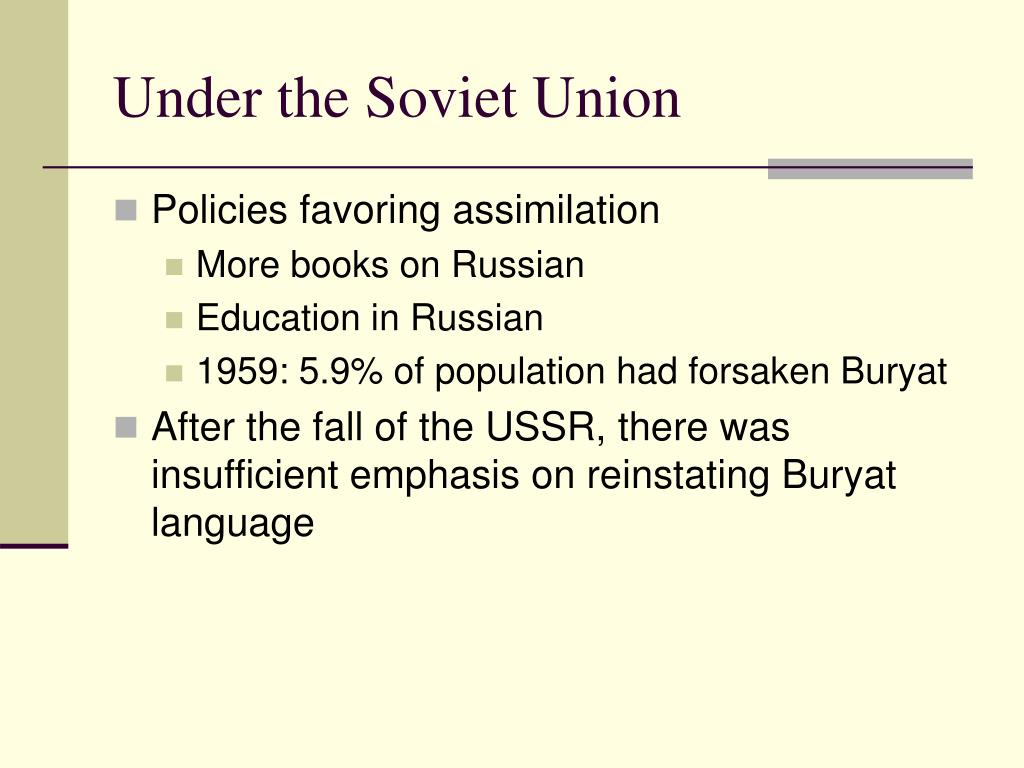 Under the Soviet Union