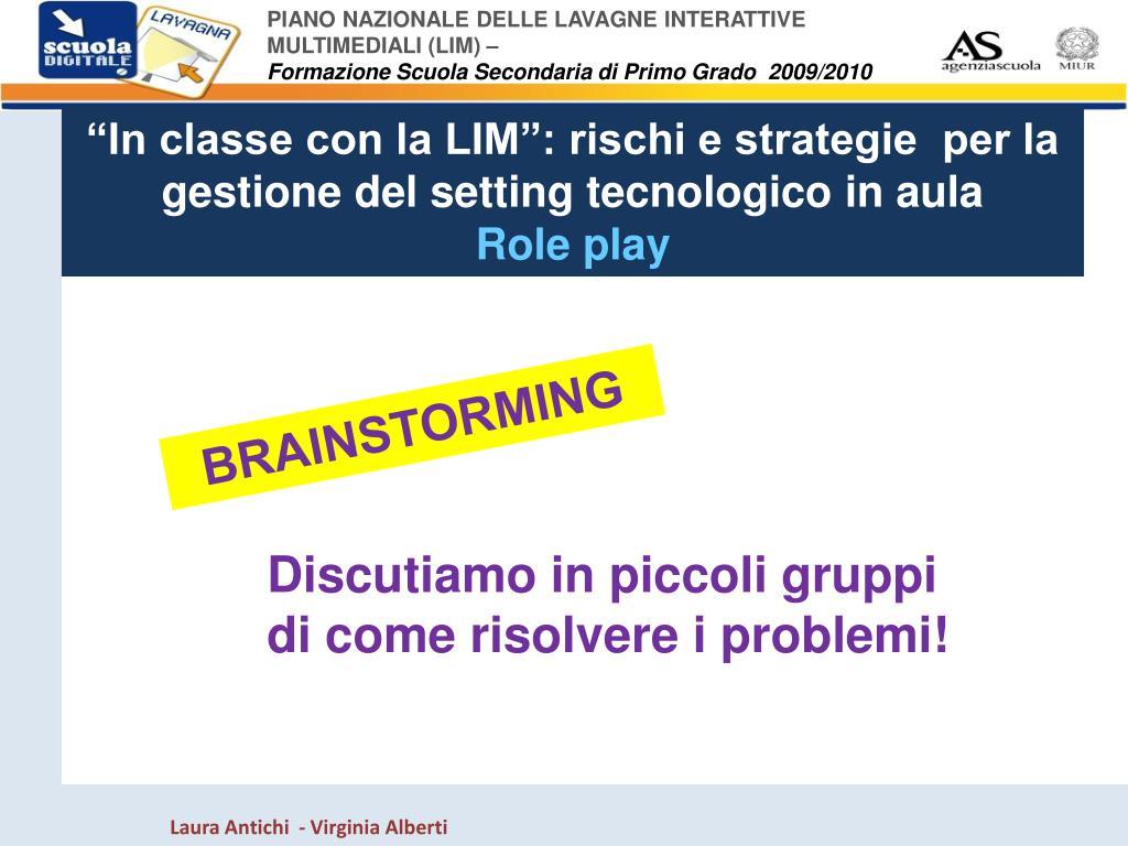 """""""In classe con la LIM"""": rischi e strategie  per la gestione del"""