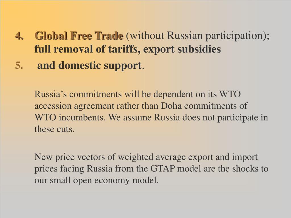 Global Free Trade