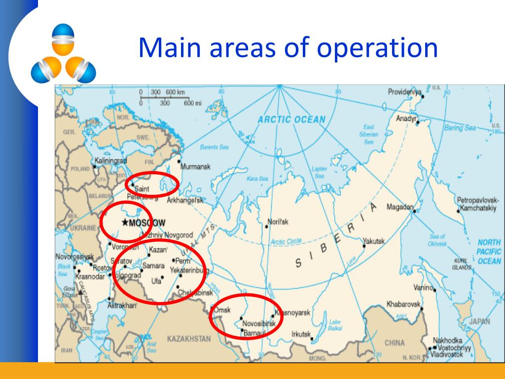 Main areas of operation