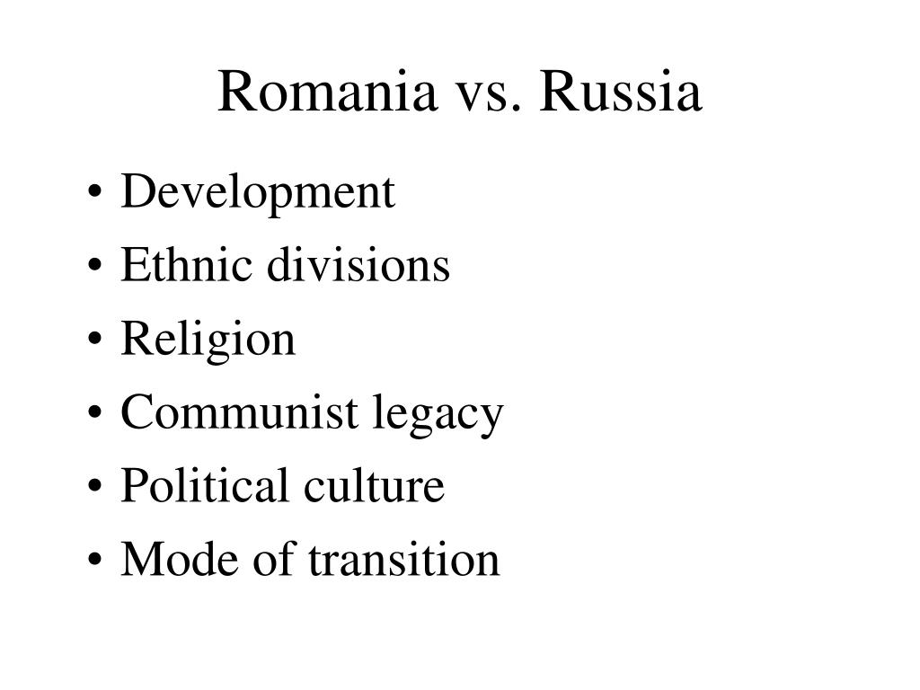 Romania vs. Russia