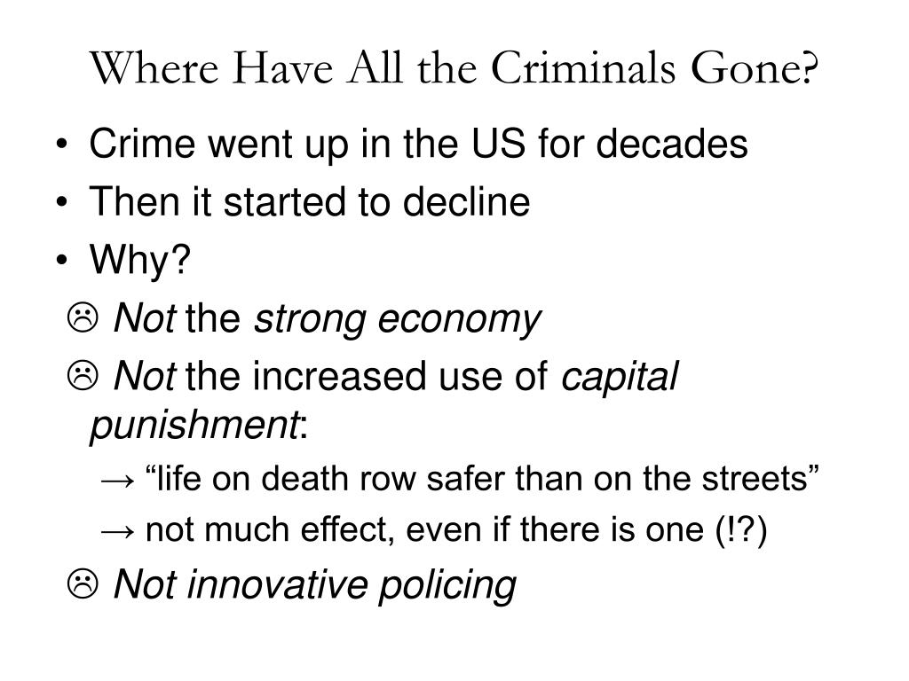 Where Have All the Criminals Gone?