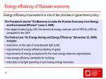 energy efficiency of russian economy