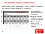 ghg emissions in russia soft constraint