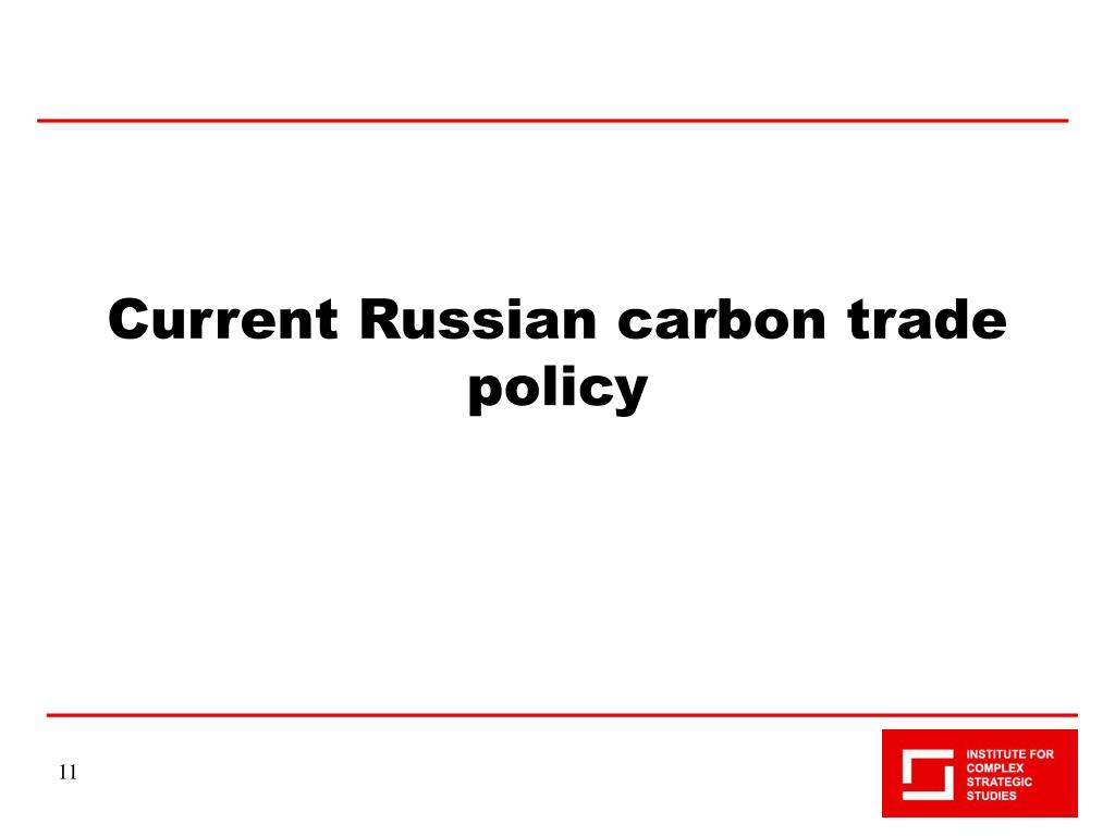 Current Russian carbon trade policy