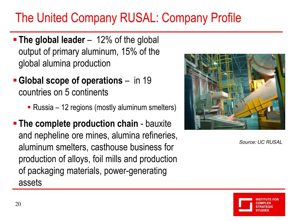 The United Company RUSAL: Company Profile