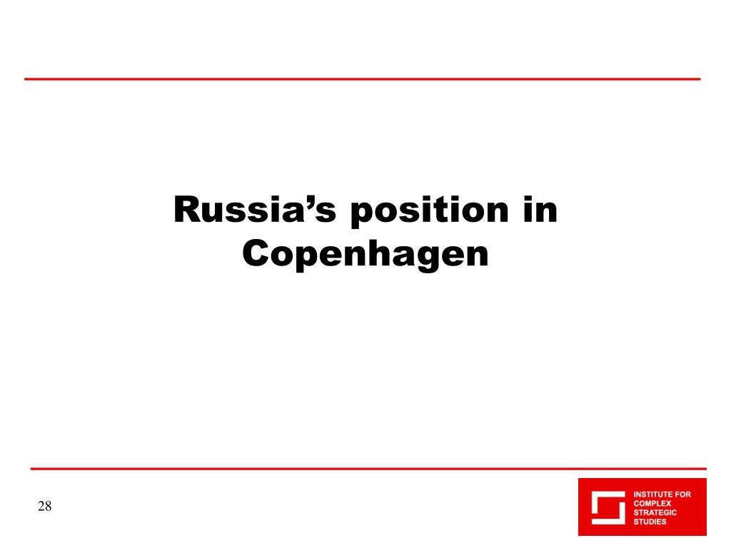 Russia's position in Copenhagen