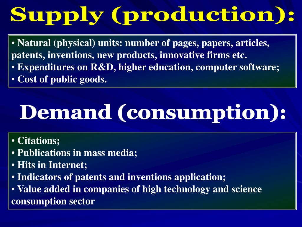 Supply (production):