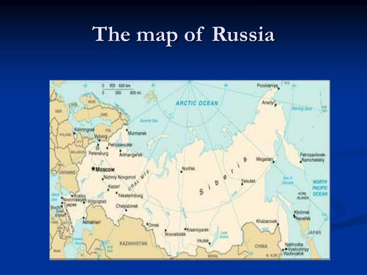 The map of russia