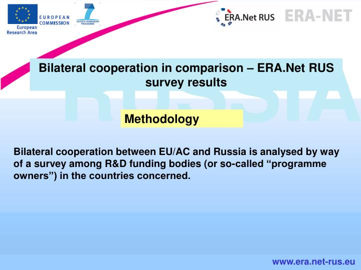 Bilateral cooperation in comparison – ERA.Net RUS survey results
