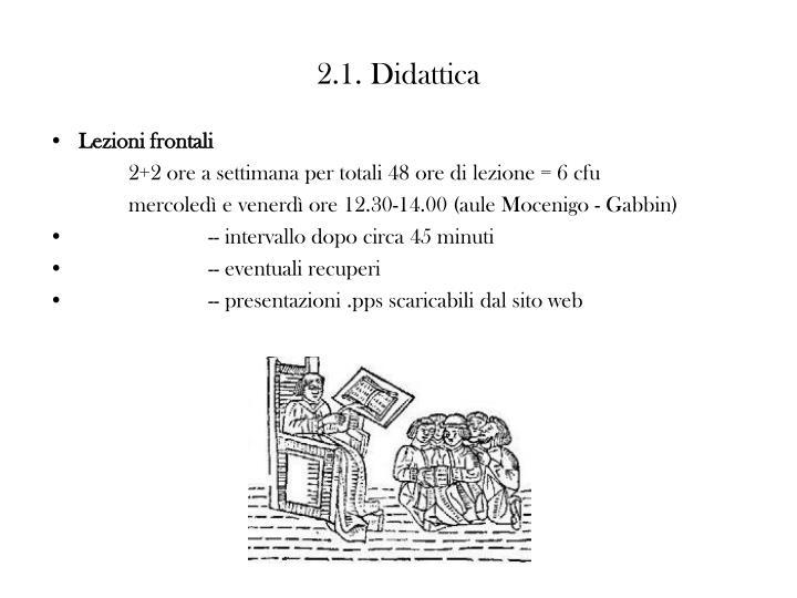 2.1. Didattica