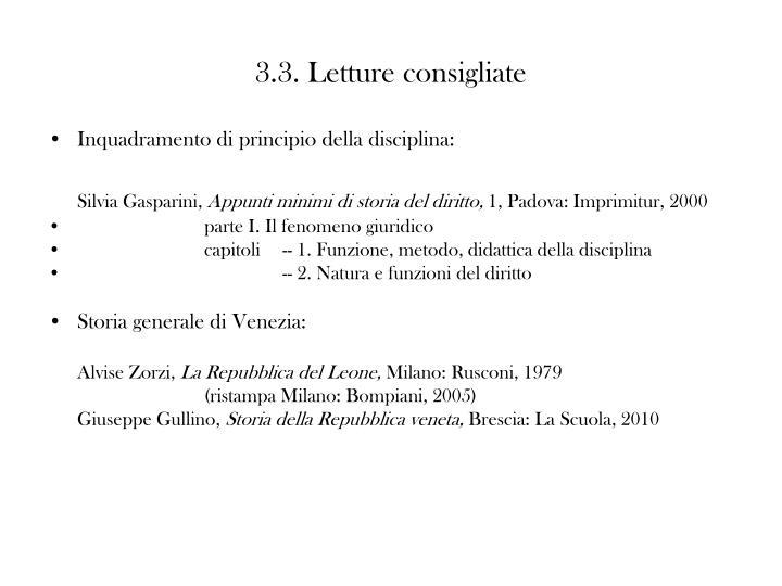 3.3. Letture consigliate