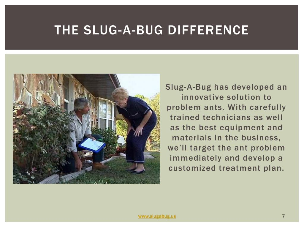 The slug-a-bug difference