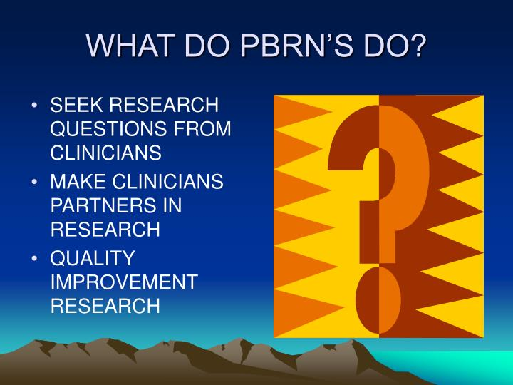 WHAT DO PBRN'S DO?