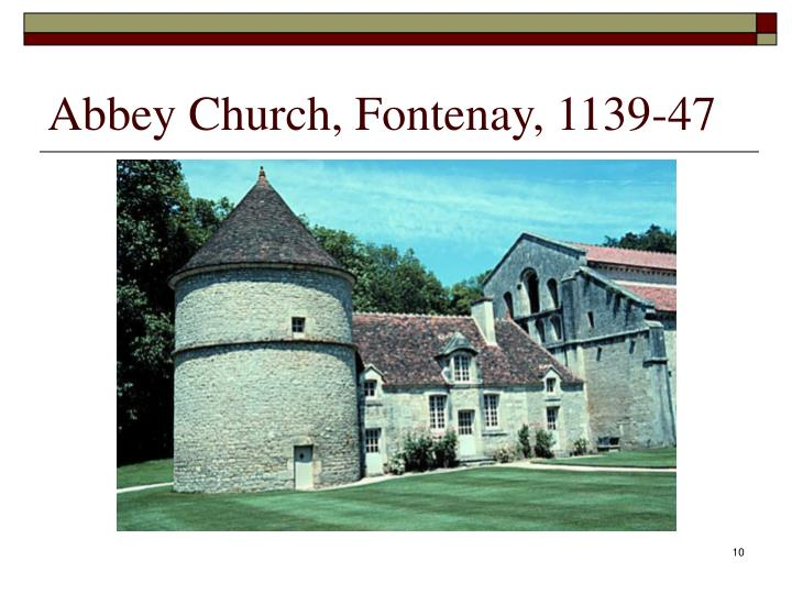 Abbey Church, Fontenay, 1139-47