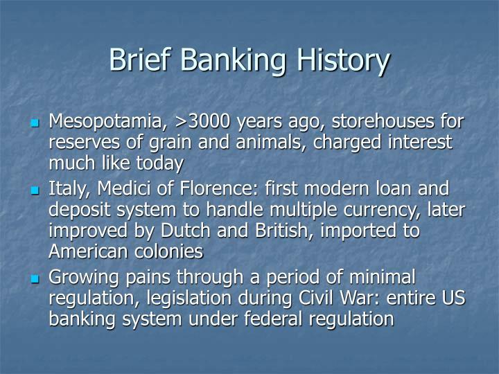 Brief Banking History