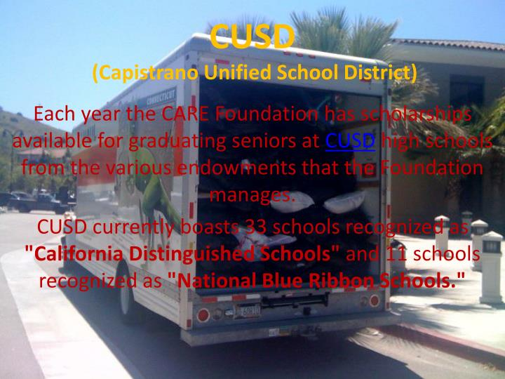 Cusd capistrano unified school district