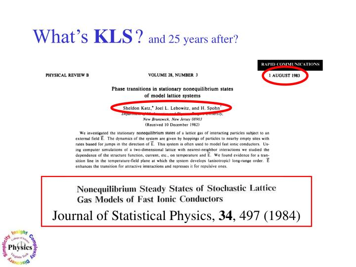 Journal of Statistical Physics,