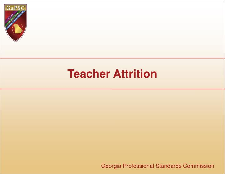 teacher attrition Documents similar to teacher attrition and retention - a meta-analytic and narrative review of the research.