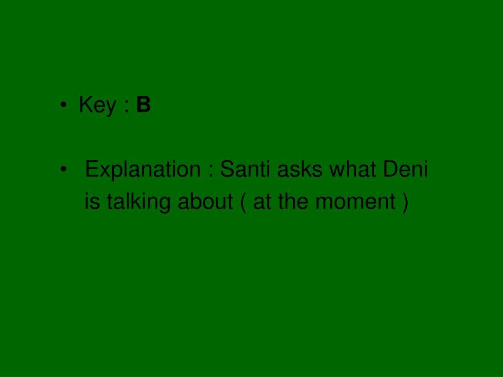 Key :