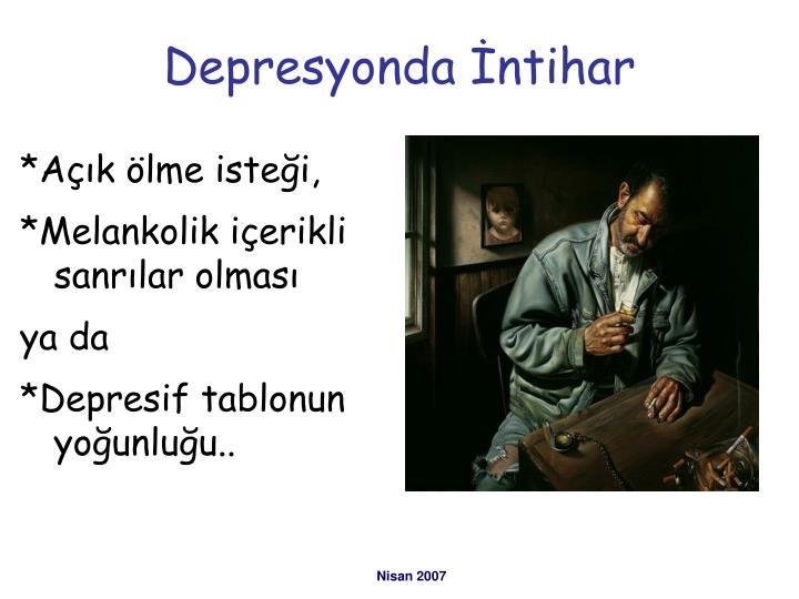 Depresyonda İntihar