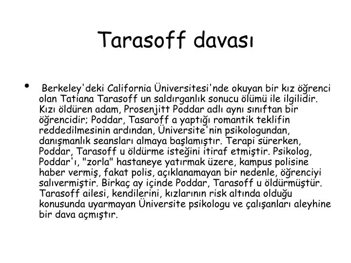 Tarasoff davası