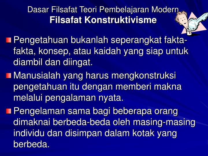 Dasar Filsafat Teori Pembelajaran Modern