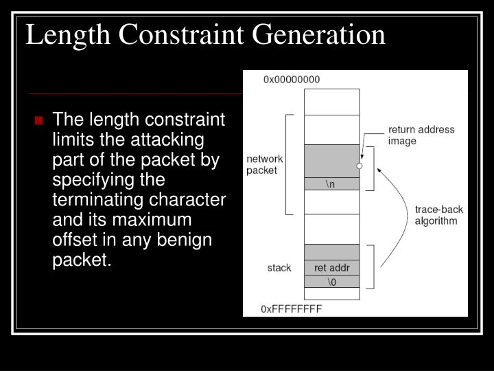 Length Constraint Generation