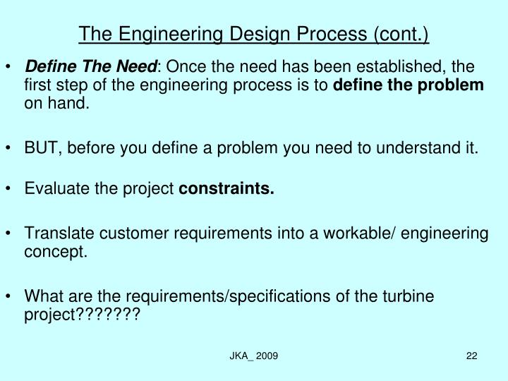 The Engineering Design Process (cont.)