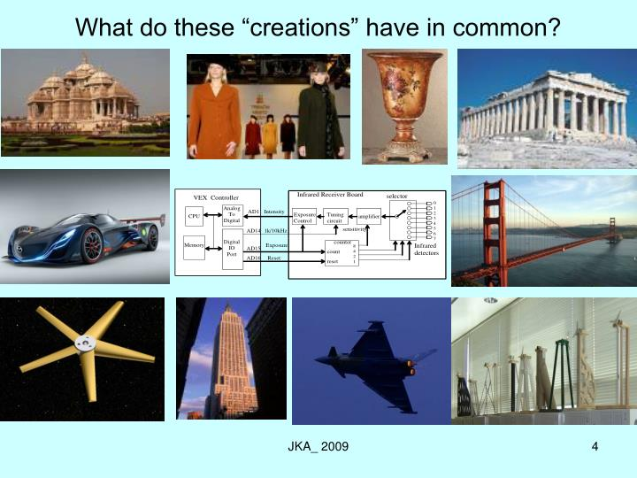 "What do these ""creations"" have in common?"