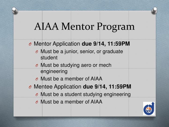 AIAA Mentor Program