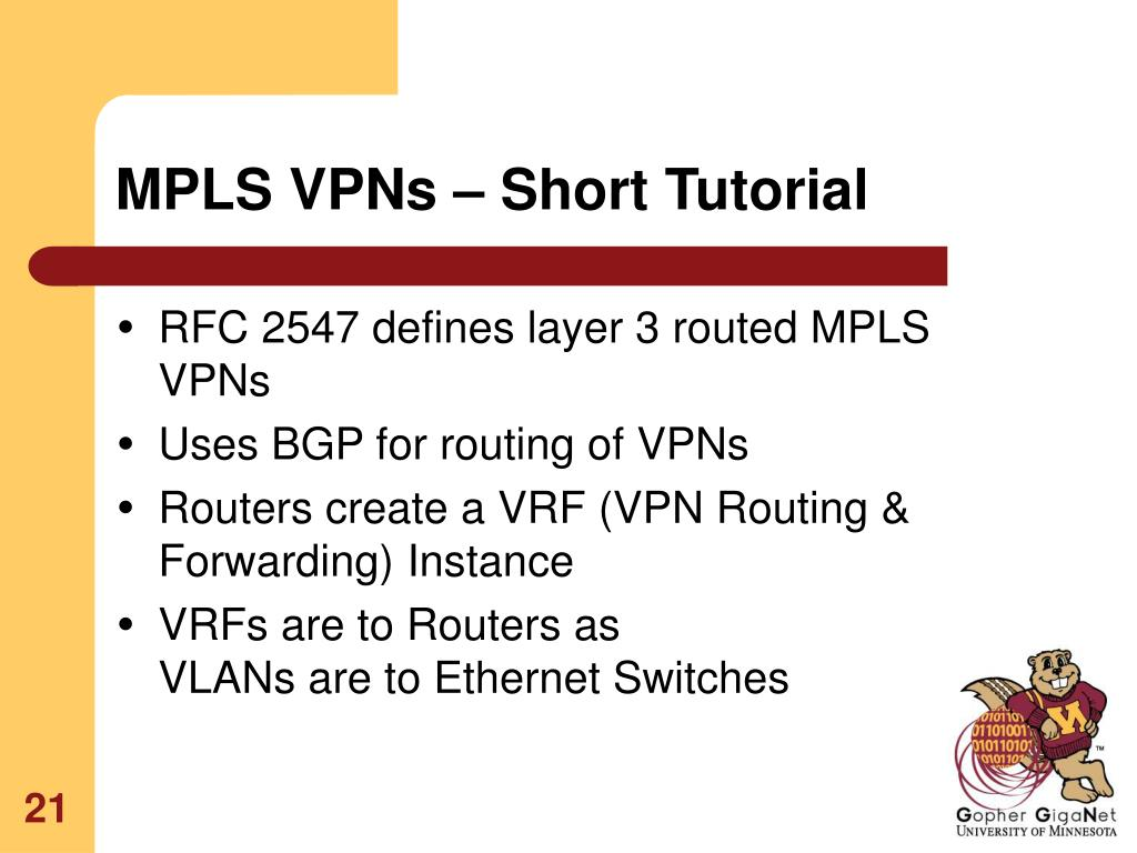 MPLS VPNs – Short Tutorial