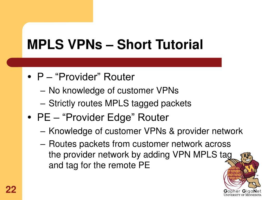 MPLS VPNs – Short Tutorial