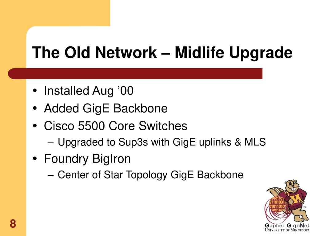 The Old Network – Midlife Upgrade