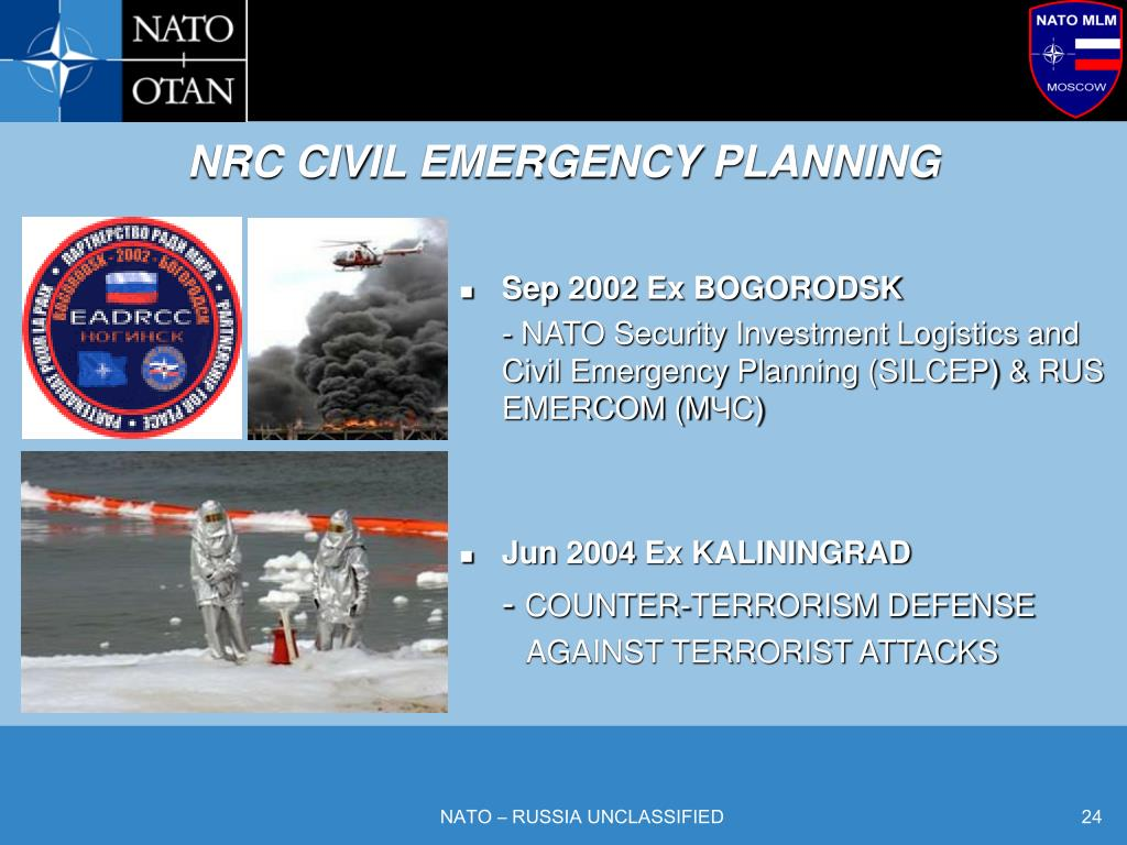 NRC CIVIL EMERGENCY PLANNING