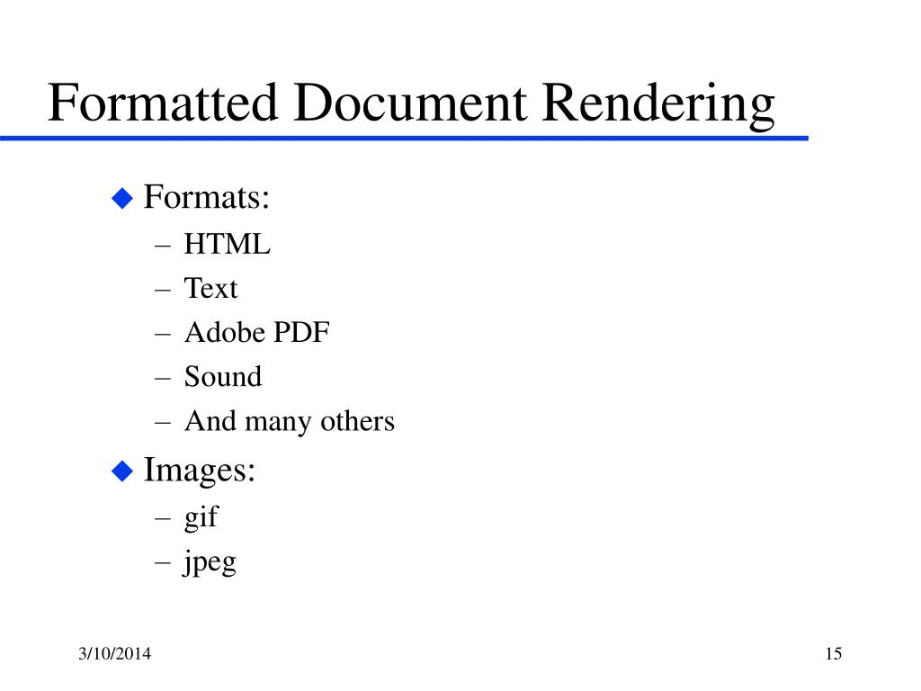 Formatted Document Rendering