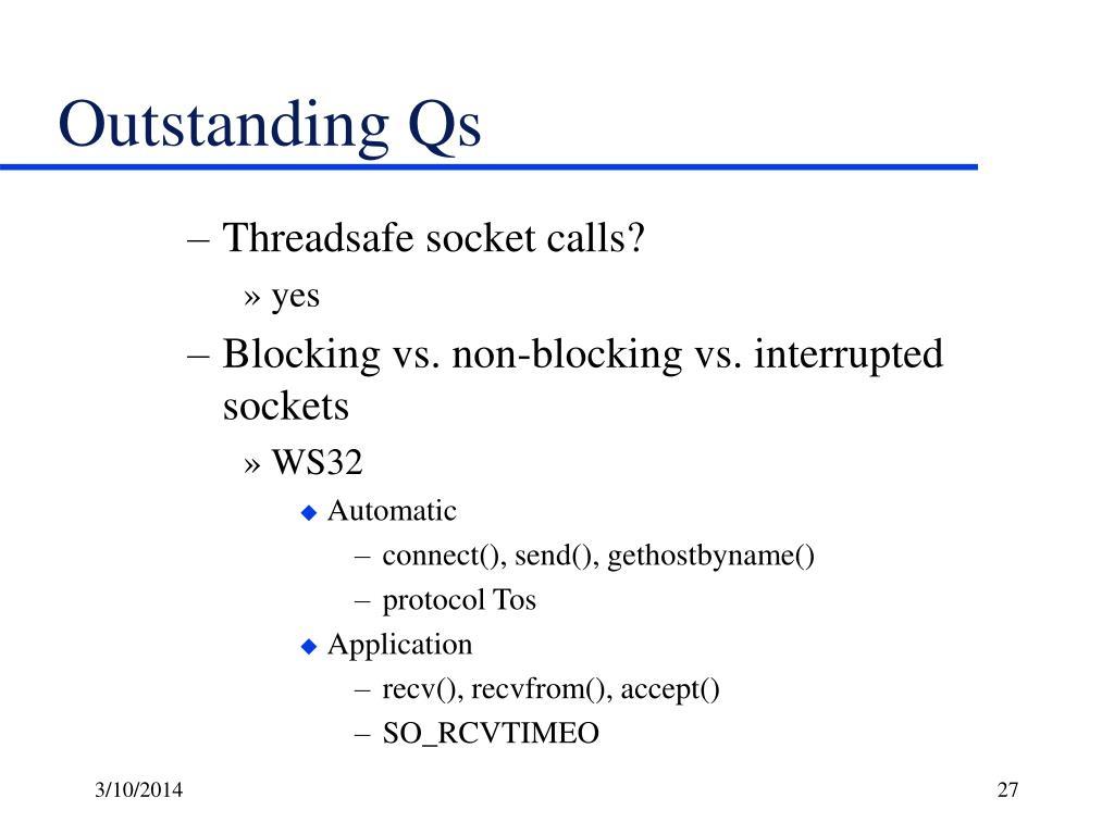 Outstanding Qs