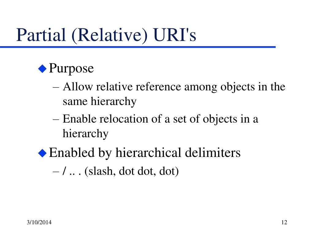 Partial (Relative) URI's