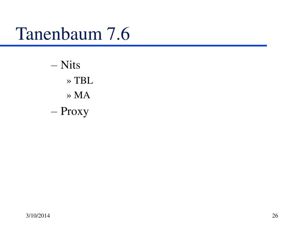 Tanenbaum 7.6