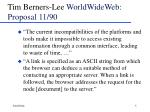 tim berners lee worldwideweb proposal 11 90