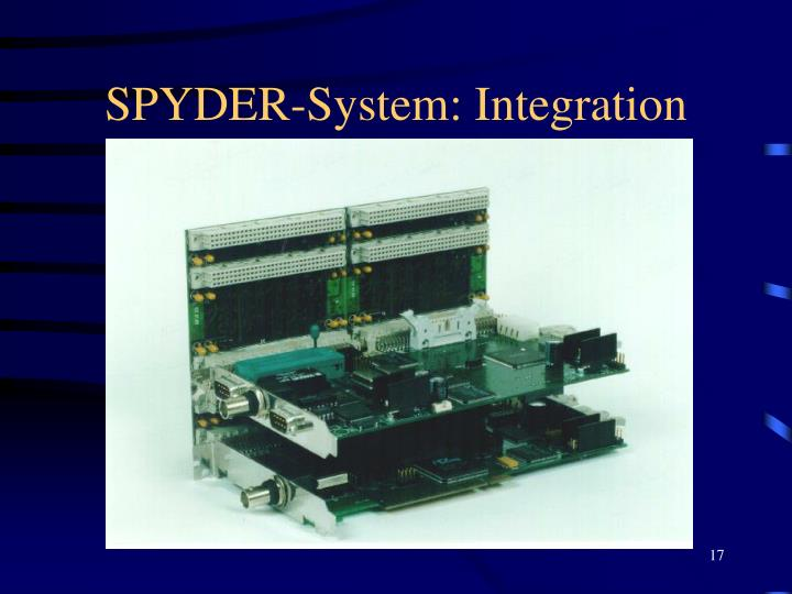 SPYDER-System: Integration