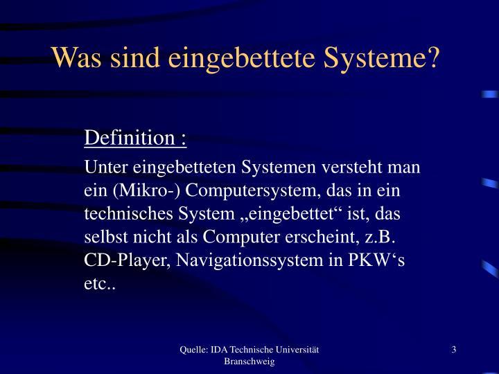 Was sind eingebettete Systeme?