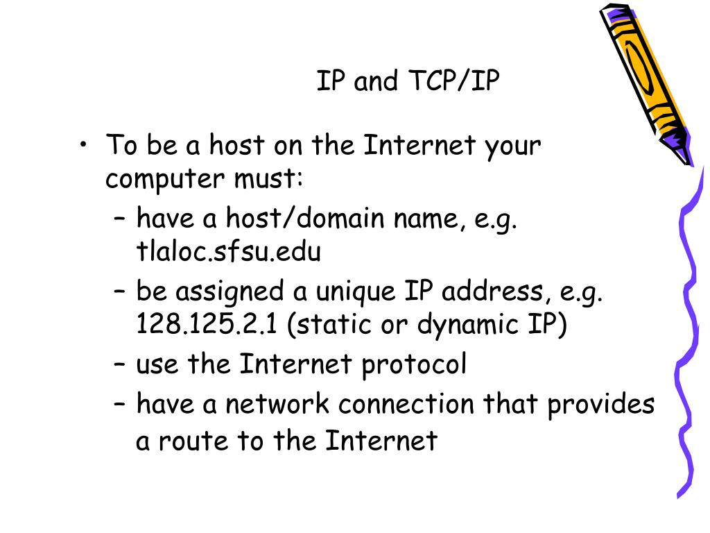 IP and TCP/IP