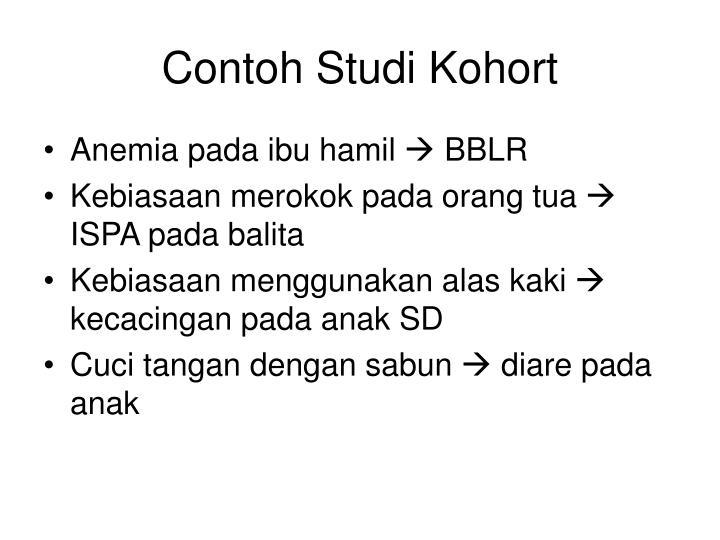 Contoh Studi Kohort