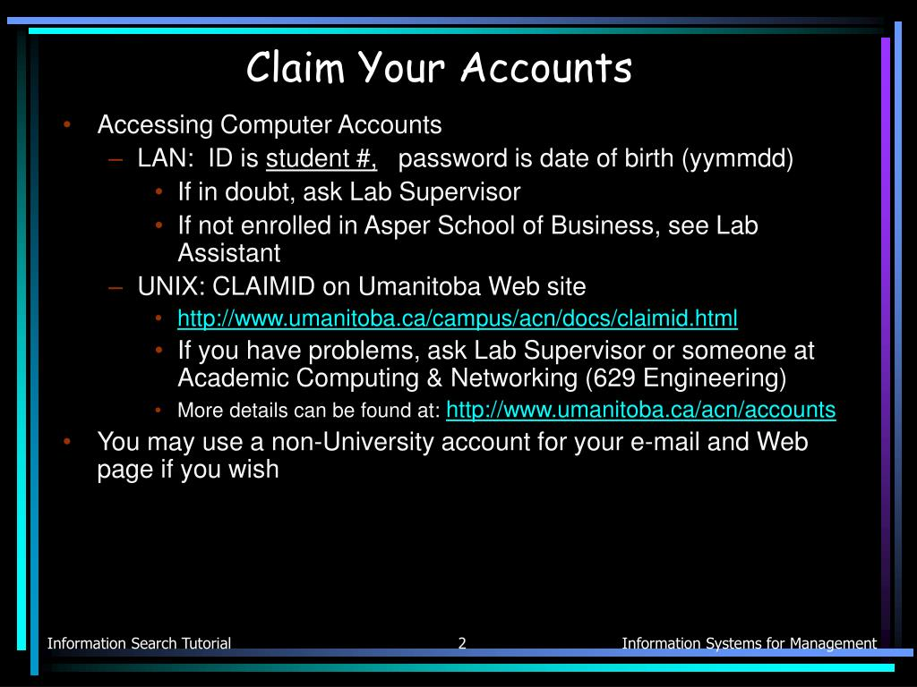Claim Your Accounts