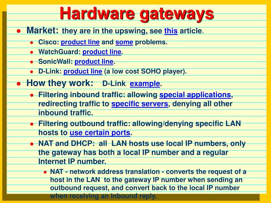 Hardware gateways
