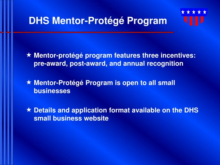 DHS Mentor-Protégé Program