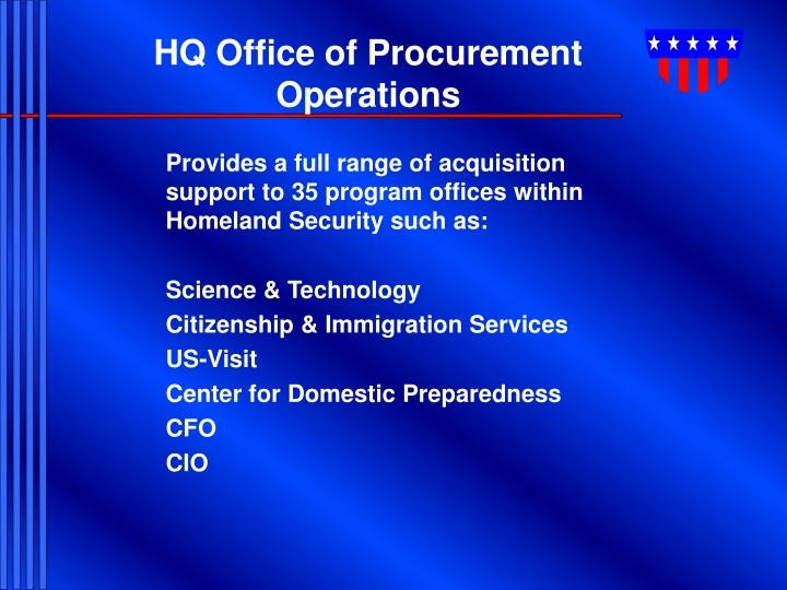 HQ Office of Procurement Operations