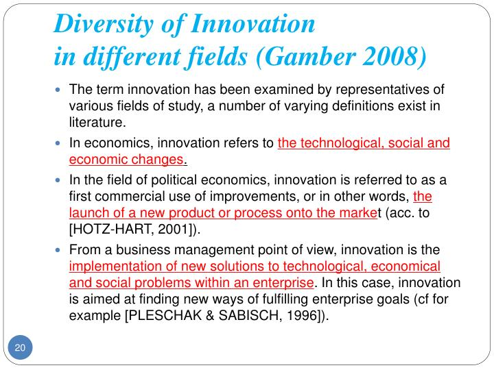 Diversity of Innovation